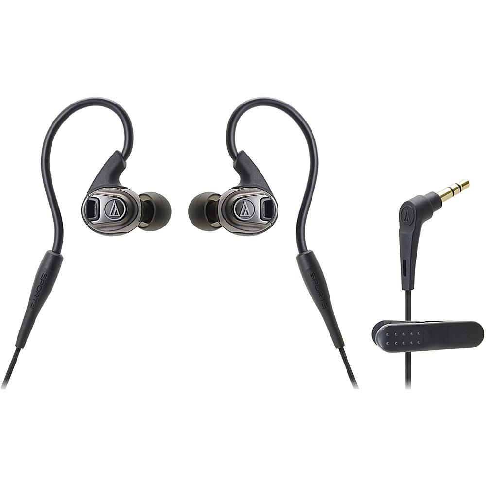 Audio Technica ATH SPORT3 SonicSport In Ear Headphones Black Audio Technica Headphones Speakers