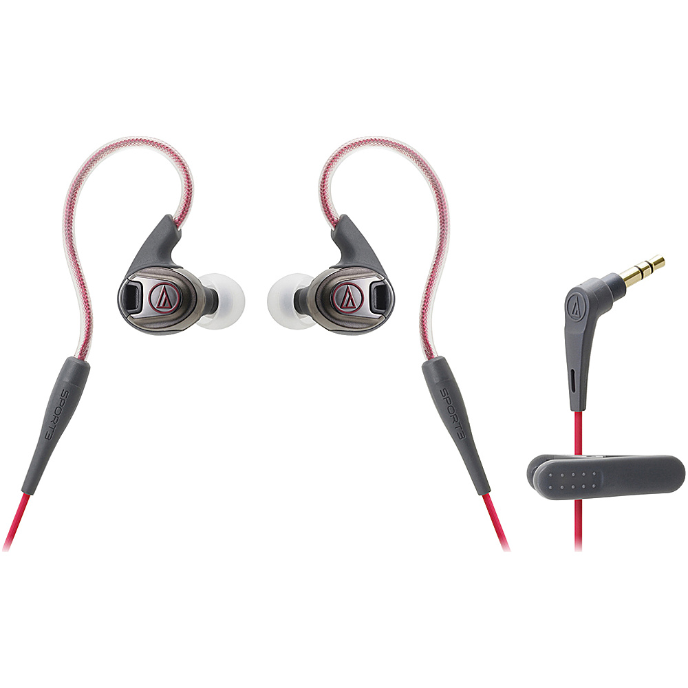Audio Technica ATH SPORT3 SonicSport In Ear Headphones Red Audio Technica Headphones Speakers
