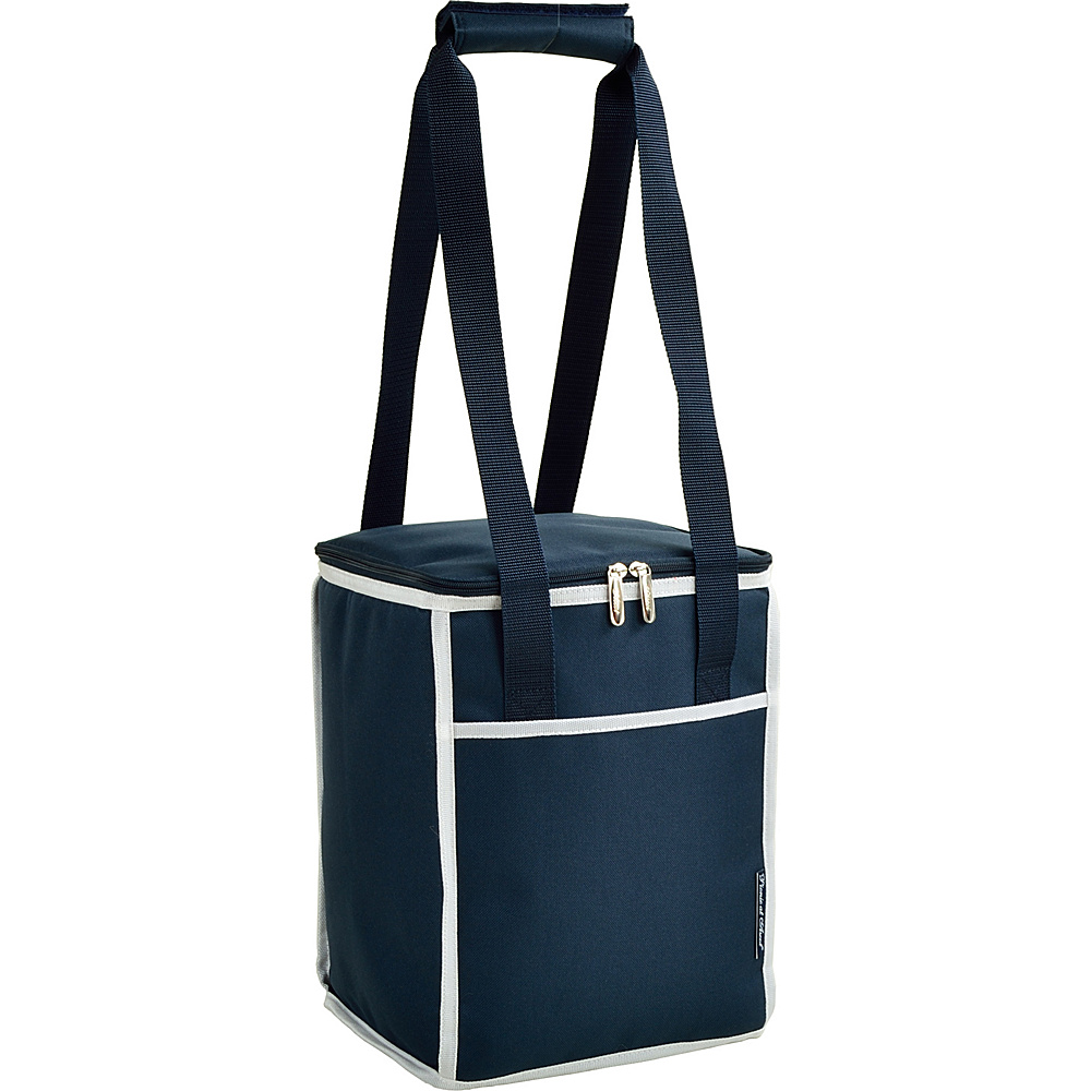 Picnic at Ascot 24 Can Collapsible Cooler Tote Navy - Picnic at Ascot Outdoor Coolers - Outdoor, Outdoor Coolers