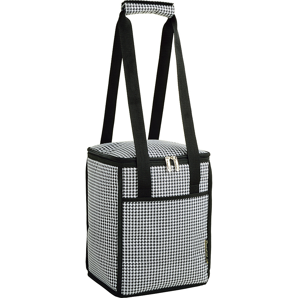 Picnic at Ascot 24 Can Collapsible Cooler Tote Houndstooth - Picnic at Ascot Outdoor Coolers - Outdoor, Outdoor Coolers
