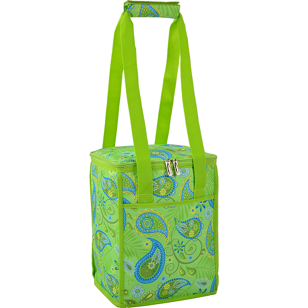 Picnic at Ascot 24 Can Collapsible Cooler Tote Paisley Green - Picnic at Ascot Outdoor Coolers - Outdoor, Outdoor Coolers