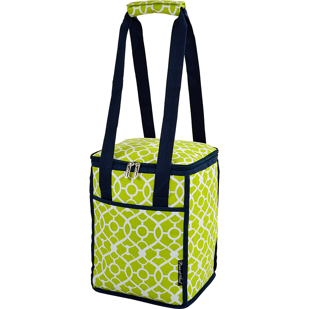 Picnic at Ascot 24 Can Collapsible Cooler Tote Trellis Green - Picnic at Ascot Outdoor Coolers - Outdoor, Outdoor Coolers