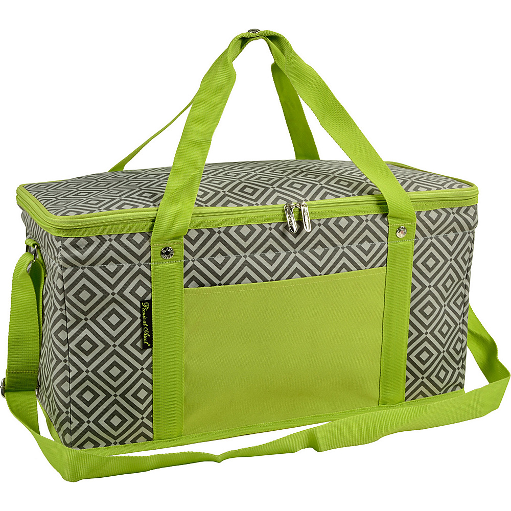 Picnic at Ascot 72 Can Large Folding Collapsible Cooler Granite Grey/Green - Picnic at Ascot Outdoor Coolers - Outdoor, Outdoor Coolers