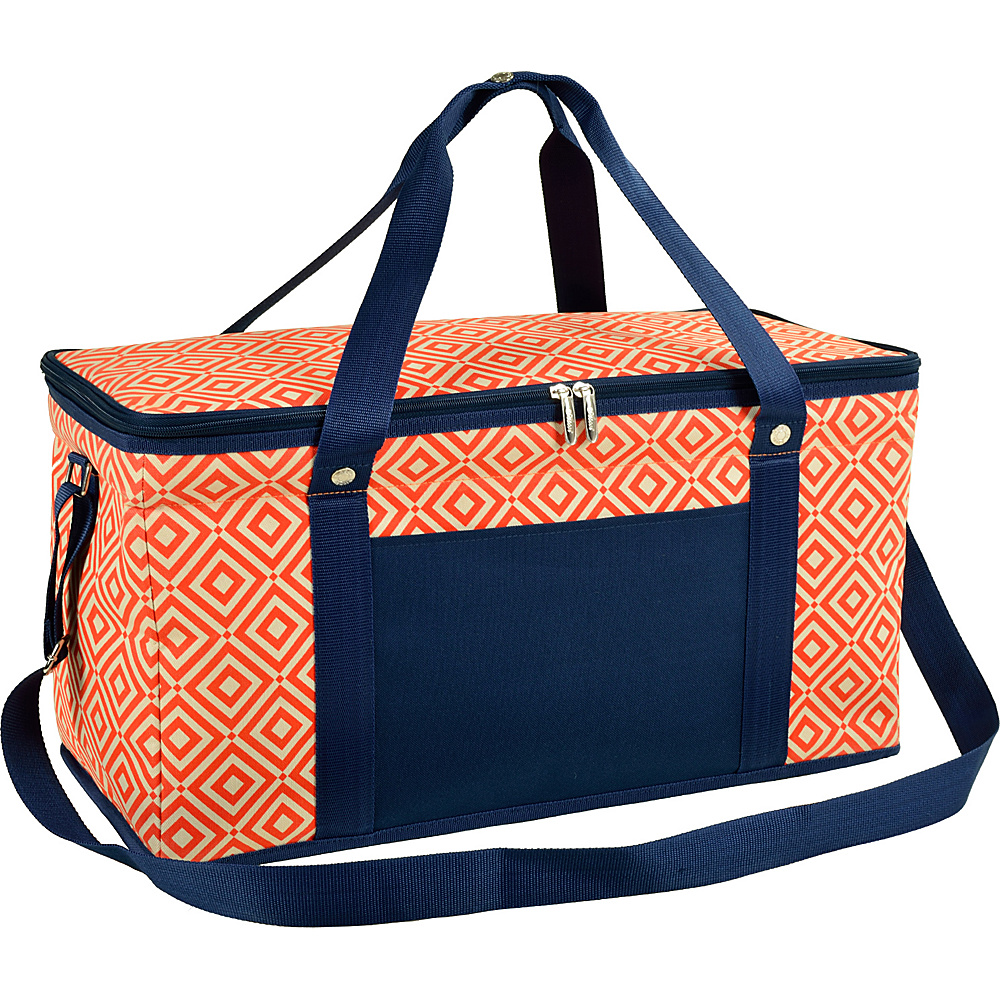 Picnic at Ascot 72 Can Large Folding Collapsible Cooler Orange/Navy - Picnic at Ascot Outdoor Coolers - Outdoor, Outdoor Coolers