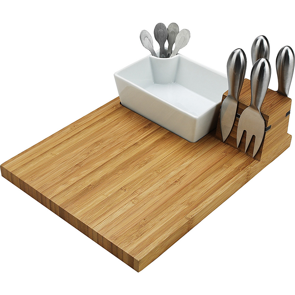 Picnic at Ascot Buxton Bamboo Cheese Board Set with 4 Tools Bamboo - Picnic at Ascot Outdoor Accessories - Outdoor, Outdoor Accessories