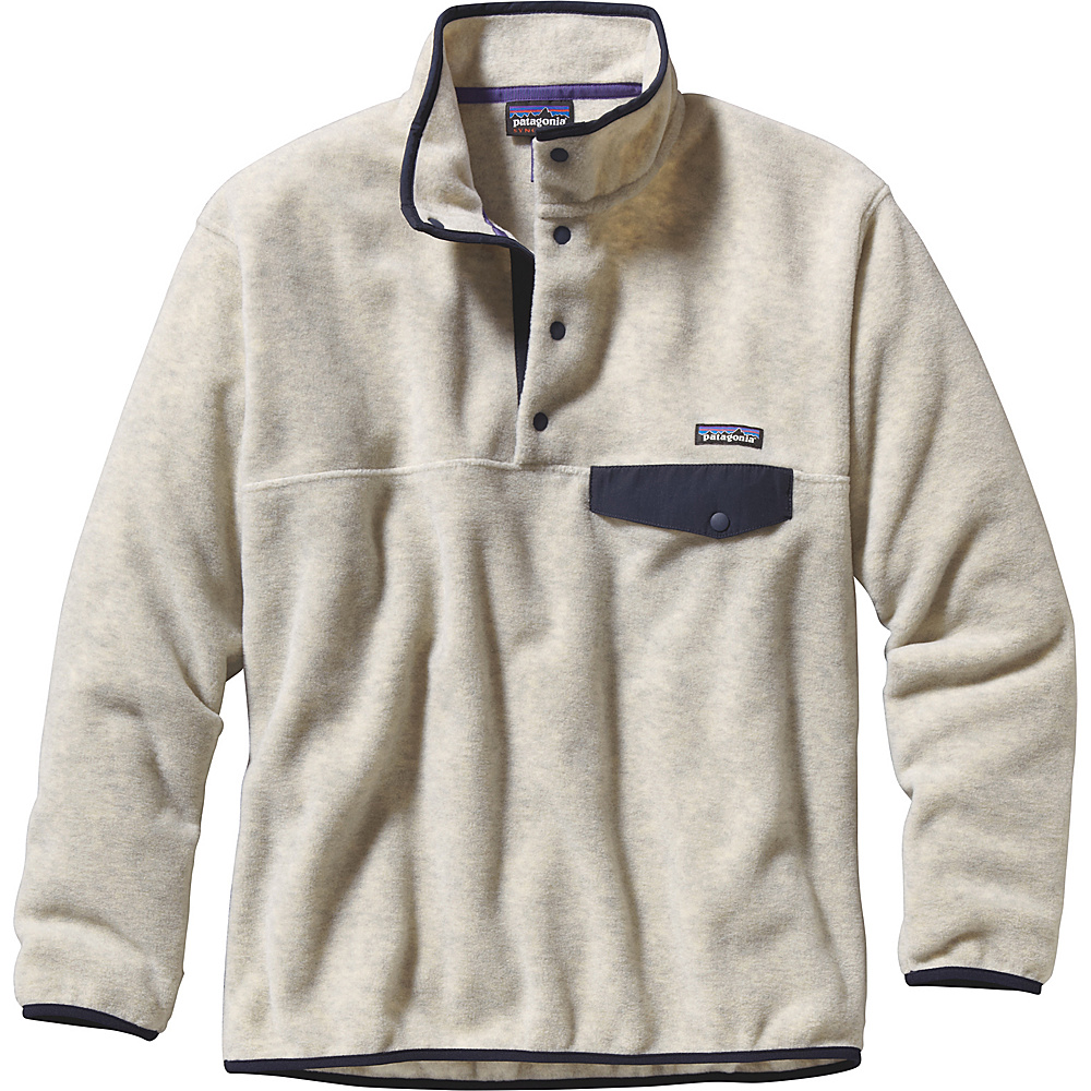 Patagonia Mens Synch Snap-T Pullover XS - Oatmeal Heather - Patagonia Mens Apparel - Apparel & Footwear, Men's Apparel