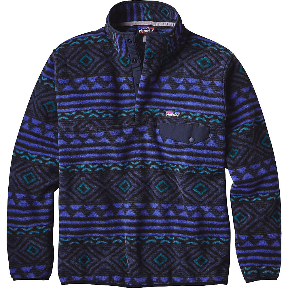 Patagonia Mens Synch Snap-T Pullover XS - Saltillo: Navy Blue - Patagonia Mens Apparel - Apparel & Footwear, Men's Apparel