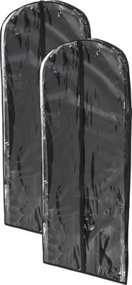 Honey-Can-Do 2-Pack Dress Bag Black - Honey-Can-Do Garment Bags