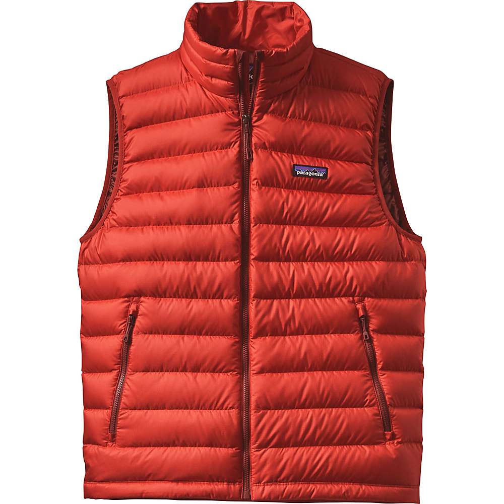 Patagonia Mens Down Sweater Vest XS - Ramble Red - Patagonia Mens Apparel - Apparel & Footwear, Men's Apparel