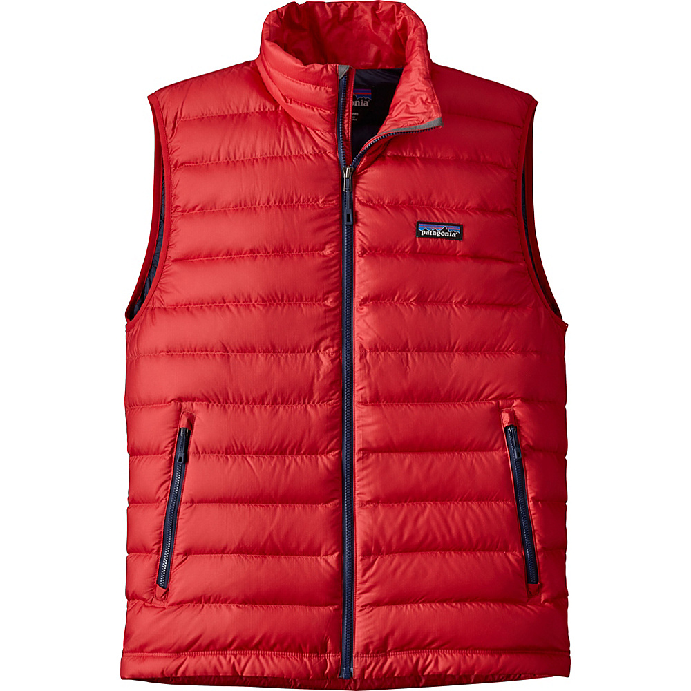 Patagonia Mens Down Sweater Vest S - Fire - Patagonia Mens Apparel - Apparel & Footwear, Men's Apparel