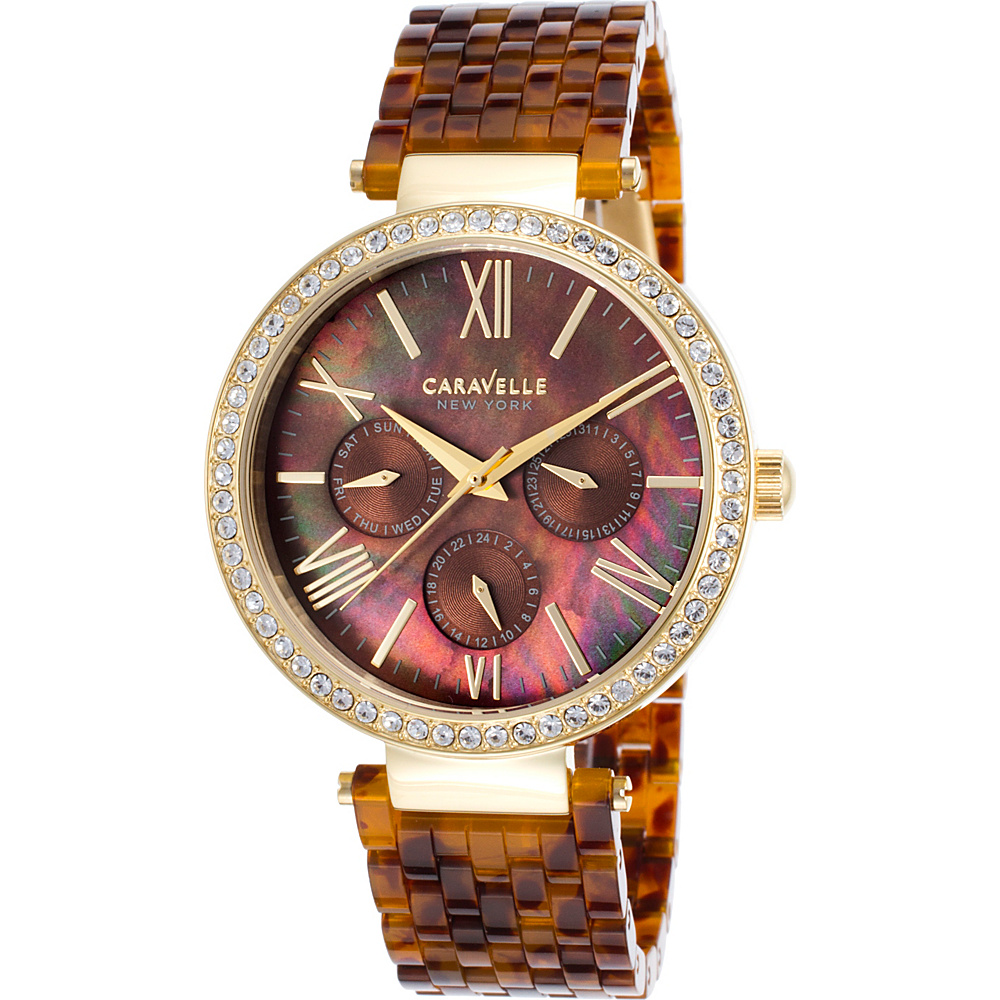 Caravelle New York Watches Womens Multi-Function Tortoise Resin Watch Tortoise - Caravelle New York Watches Watches