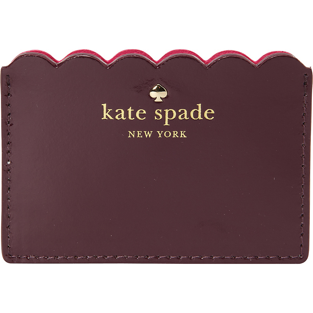 kate spade new york Lily Avenue Patent Card Holder Mahogany Radish kate spade new york Women s Wallets