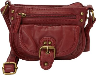 Ampere Creations Judy Mini Crossbody Burgundy - Ampere Creations Manmade Handbags