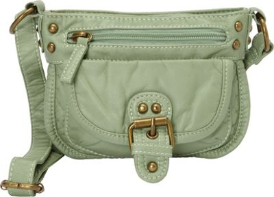 Ampere Creations Judy Mini Crossbody Seafoam Green - Ampere Creations Manmade Handbags