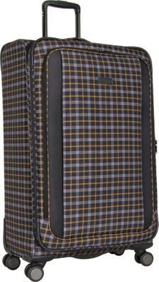 Ben Sherman Luggage Brighton Collection 28 inch Upright Black/Mustard - Ben Sherman Luggage Large Rolling Luggage