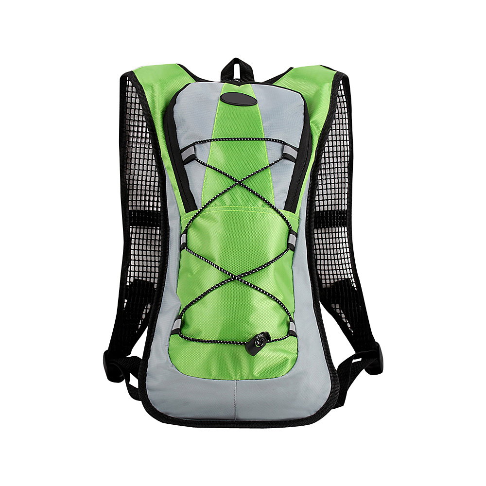 Koolulu Multifunction 2 Liter Hydration Backpack Green Koolulu Hydration Packs and Bottles