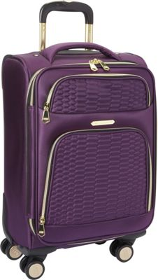 Aimee Kestenberg Florence Collection 20 inch Carry-On Plum - Aimee Kestenberg Softside Carry-On