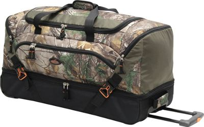 RealTree Team 30 inch Drop Bottom Wheeled Duffel RealTree Xtra - RealTree Rolling Duffels