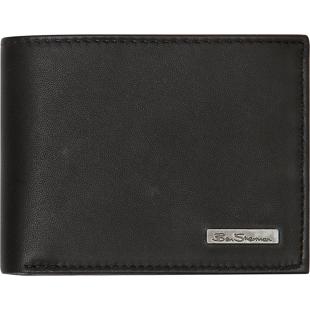 Ben Sherman Luggage Brick Lane Collection Leather Passcase Bi-Fold Wallet Black - Ben Sherman Luggage Men's Wallets