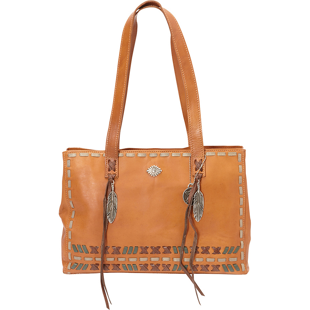 American West Mohican Melody Shopper Tote Golden Tan American West Leather Handbags