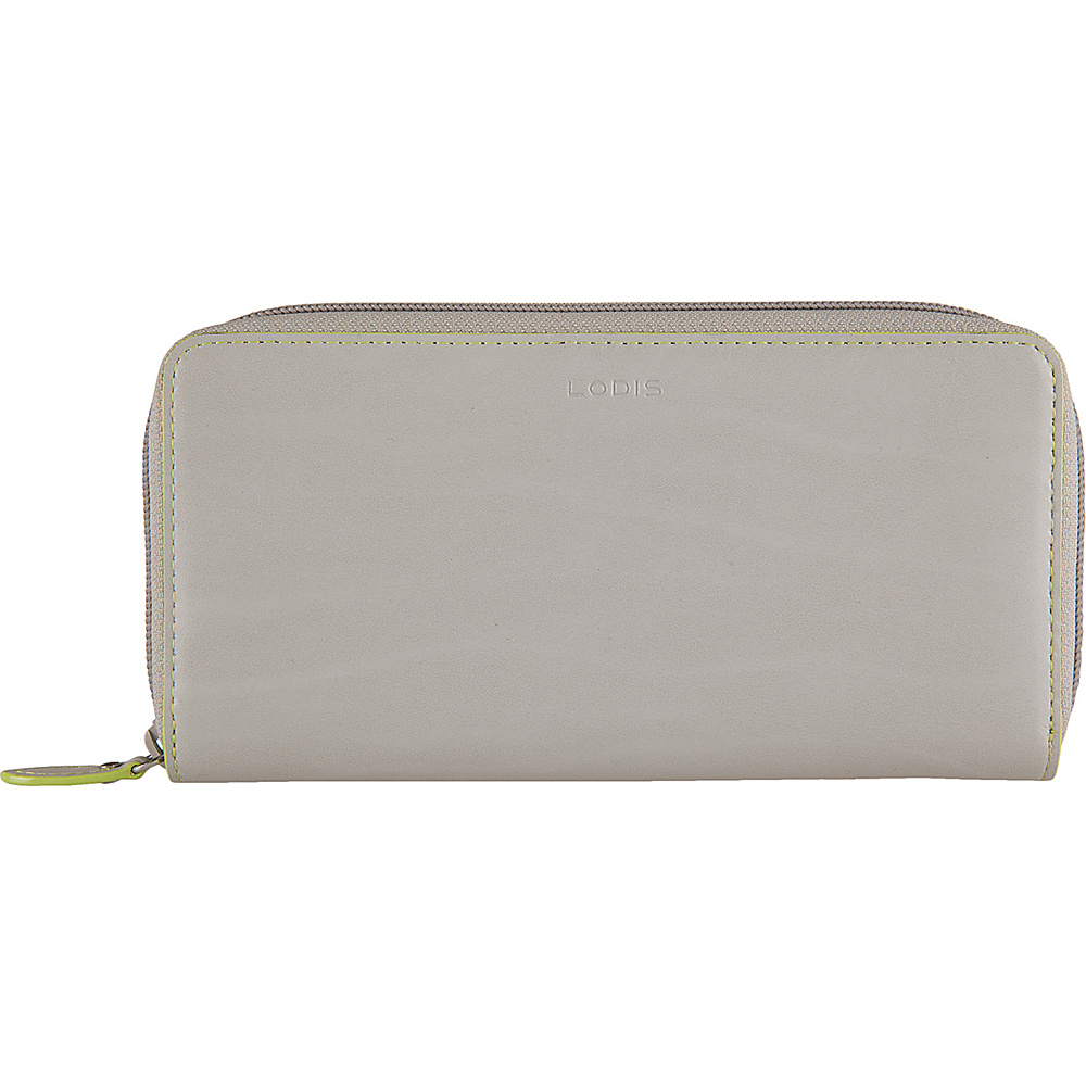 Lodis Audrey Ada Zip Wallet Dove/Lime - Lodis Womens Wallets - Women's SLG, Women's Wallets