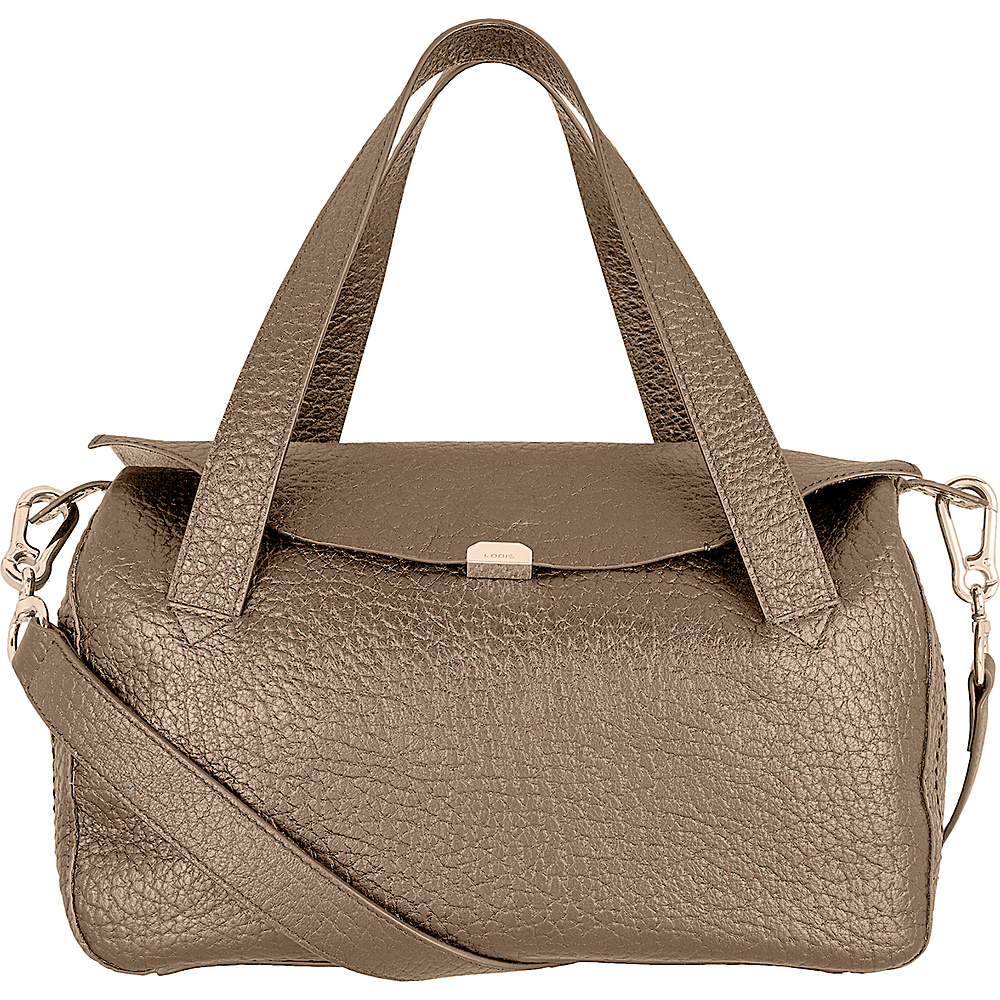 Lodis Borrego Under Lock and Key Oprah Convertible Satchel Taupe - Lodis Leather Handbags - Handbags, Leather Handbags
