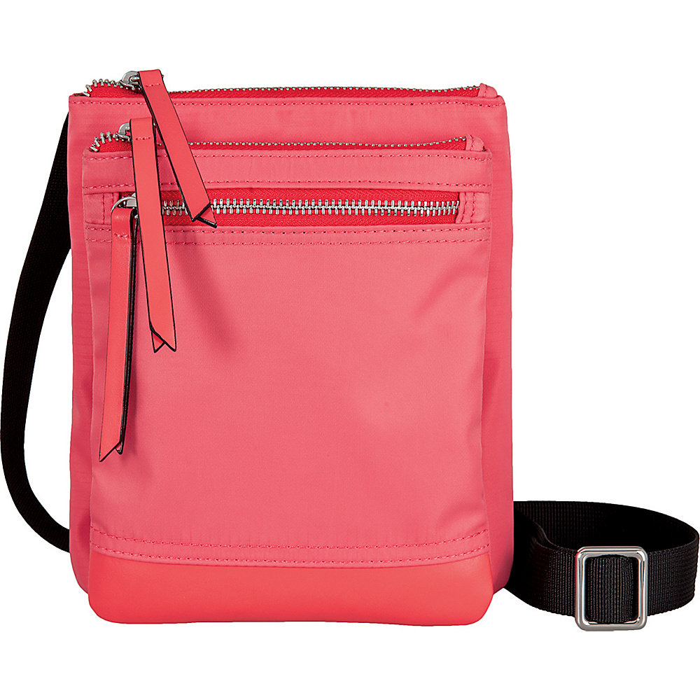 Lodis Kate Nylon Under Lock and Key Zora Pouch Crossbody Rose - Lodis Fabric Handbags - Handbags, Fabric Handbags
