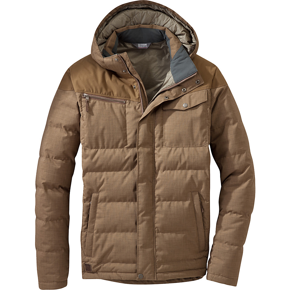 Outdoor Research Whitefish Down Jacket M - Coyote - Outdoor Research Mens Apparel - Apparel & Footwear, Men's Apparel