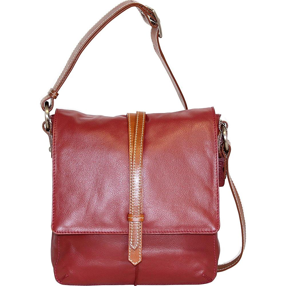 Nino Bossi Tulip Bud Crossbody Cabernet - Nino Bossi Leather Handbags - Handbags, Leather Handbags