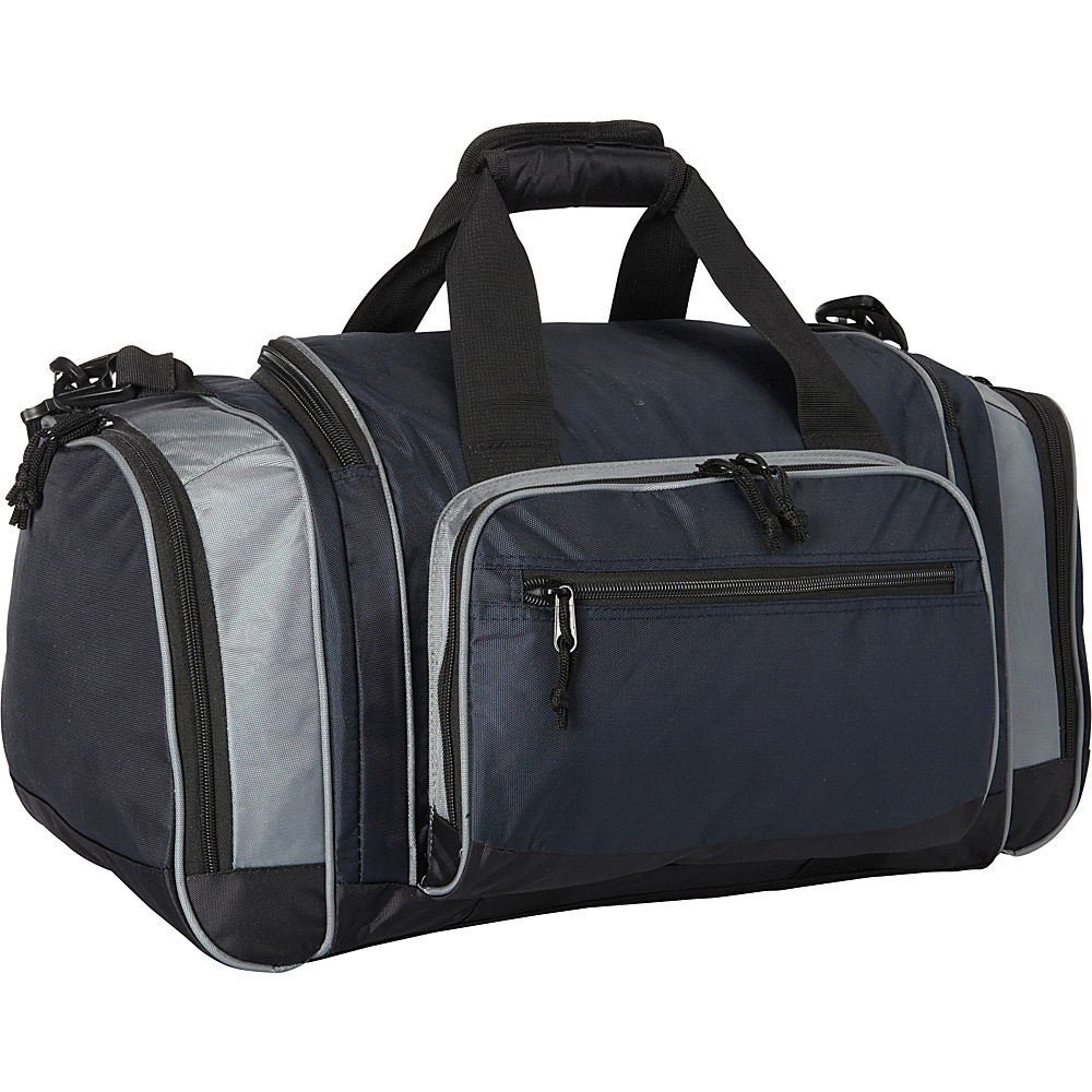 Fox Outdoor Covert Carry Sport Duffel Navy Blue Grey Fox Outdoor Gym Duffels
