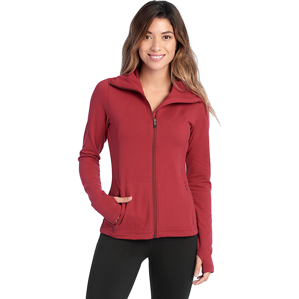 Lole Essential Cardigan M - Rumba Red - Lole Womens Apparel - Apparel & Footwear, Women's Apparel