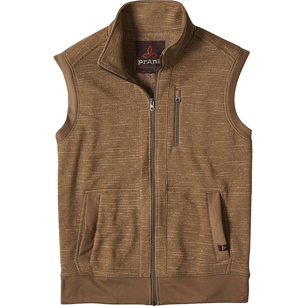 PrAna Performance Fleece Vest L - Dark Khaki - PrAna Mens Apparel - Apparel & Footwear, Men's Apparel
