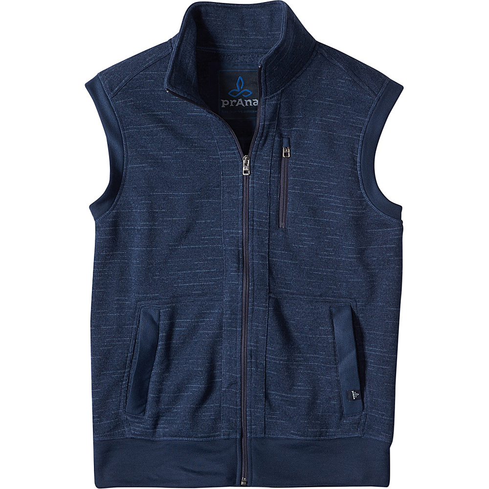 PrAna Performance Fleece Vest L - Dress Blue - PrAna Mens Apparel - Apparel & Footwear, Men's Apparel