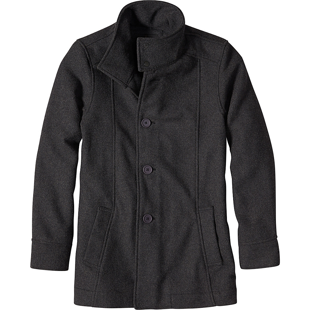 PrAna Winter Peacoat L - Charcoal Heather - PrAna Mens Apparel - Apparel & Footwear, Men's Apparel