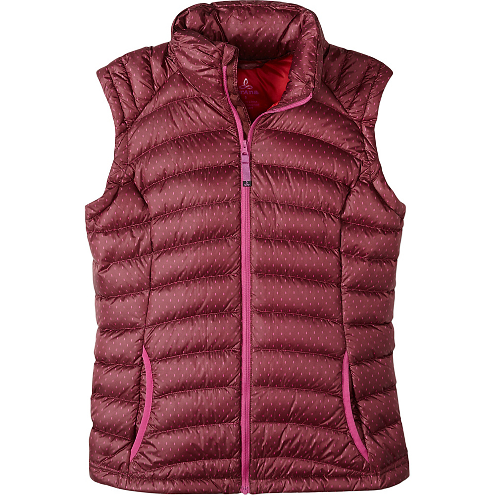 PrAna Lyra Vest M - Raisin A Lot A Dots - PrAna Womens Apparel - Apparel & Footwear, Women's Apparel