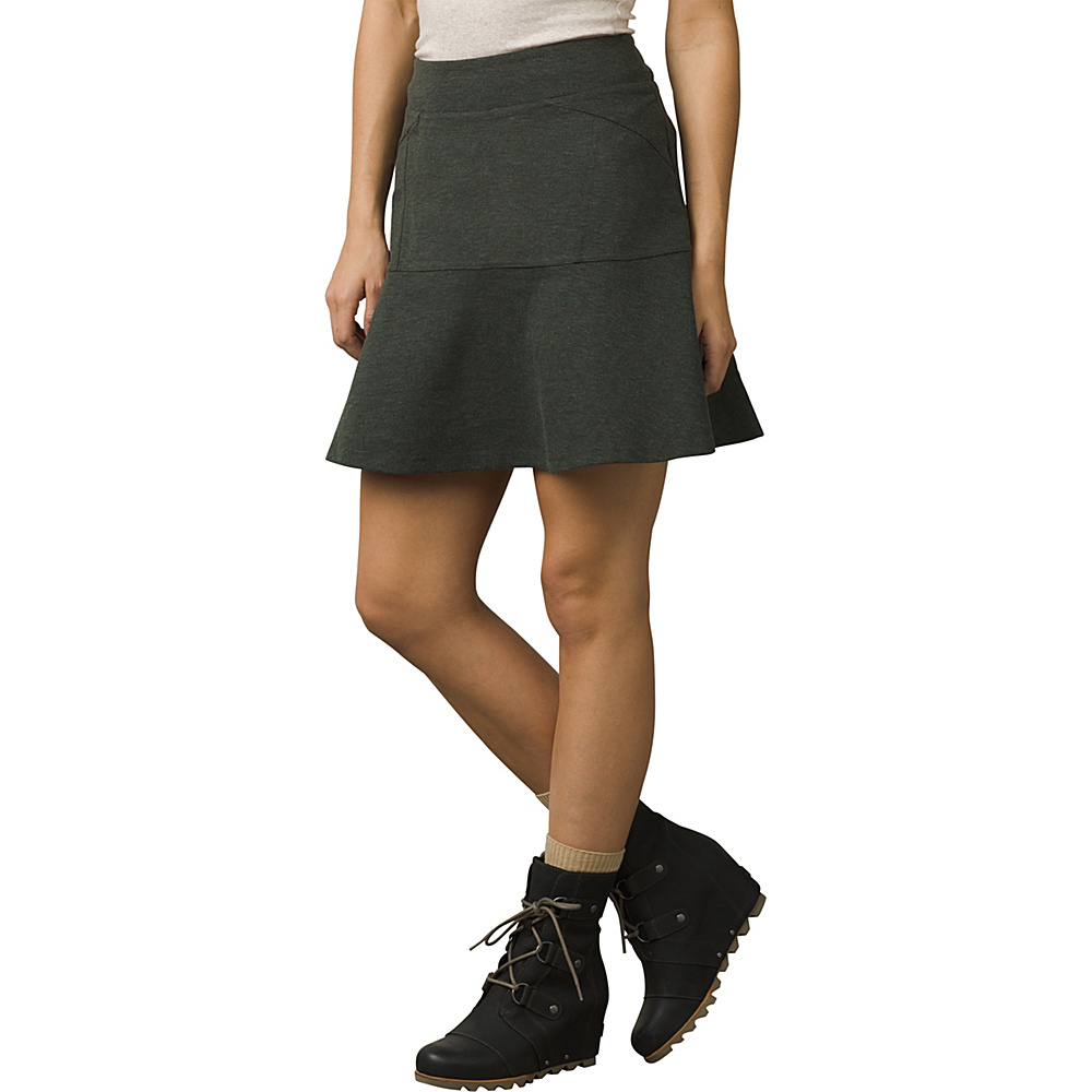 PrAna Gianna Skirt S - Dark Olive - PrAna Womens Apparel - Apparel & Footwear, Women's Apparel