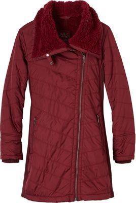 PrAna Diva Long Jacket L - Burgundy - PrAna Women's Apparel