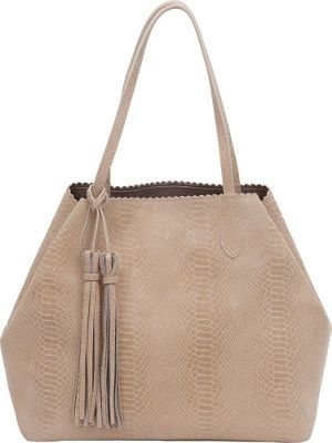 BUCO Grand Iguana Tote Oyster - BUCO Leather Handbags