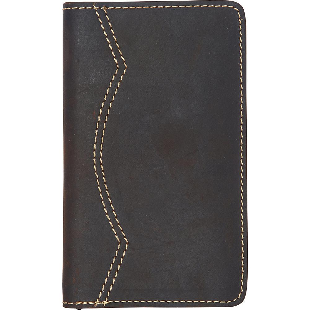 Vagabond Traveler Full Grain Leather Credit Card Cash Holder Dark Brown - Vagabond Traveler Mens Wallets - Work Bags & Briefcases, Men's Wallets