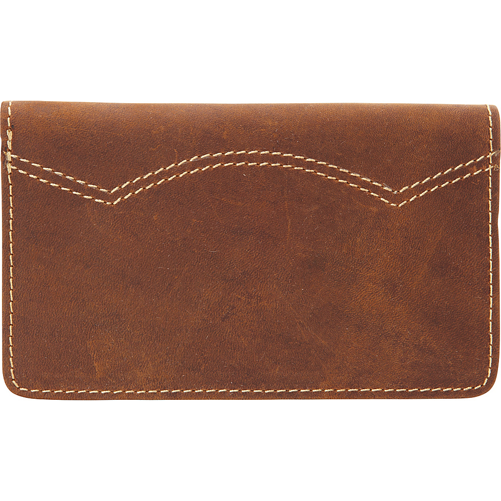 Vagabond Traveler Full Grain Leather Credit Card Cash Holder Vintage Brown - Vagabond Traveler Mens Wallets - Work Bags & Briefcases, Men's Wallets