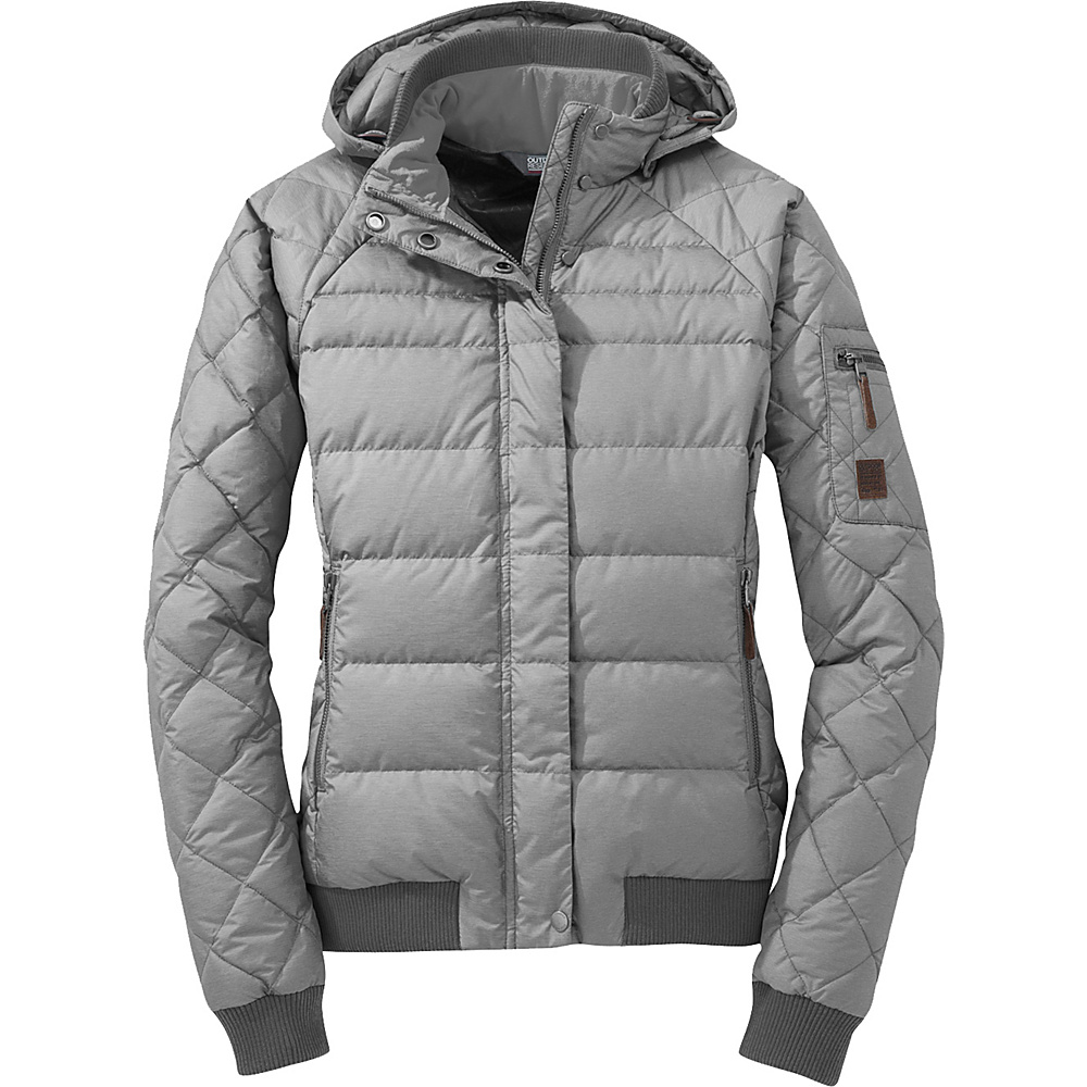 Outdoor Research Womens Placid Down Jacket S - Alloy - Outdoor Research Womens Apparel - Apparel & Footwear, Women's Apparel