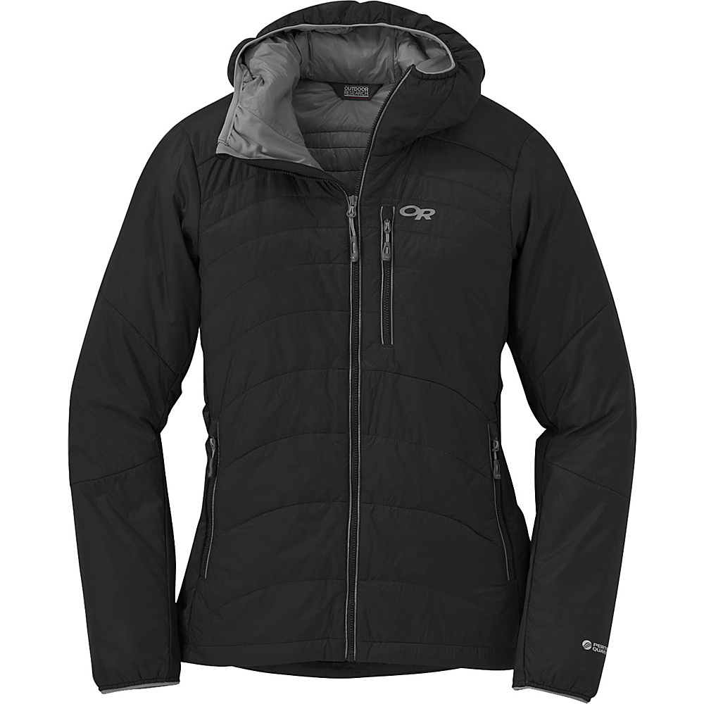 Outdoor Research Womens Cathode Hooded Jacket XS - Black - Outdoor Research Womens Apparel - Apparel & Footwear, Women's Apparel