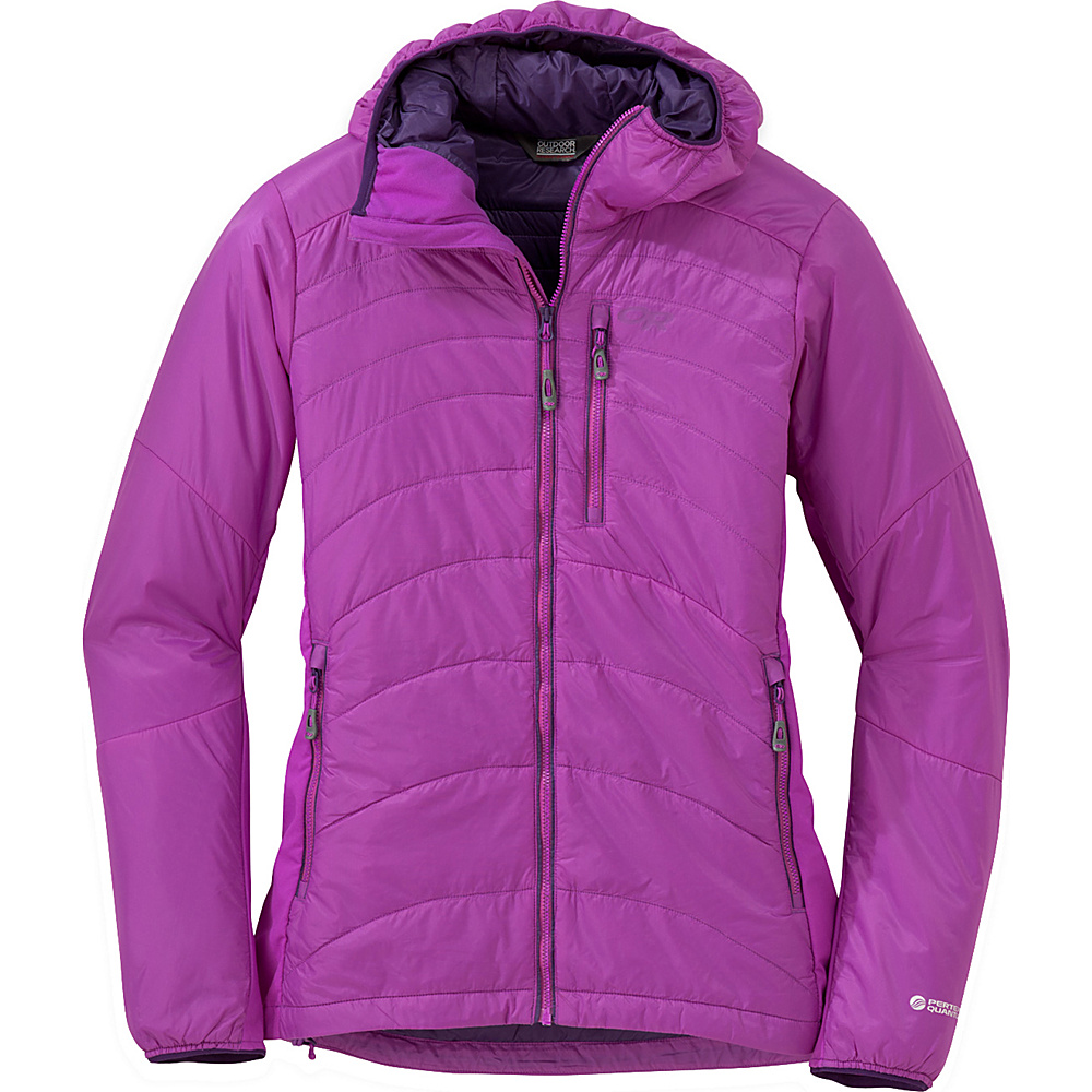 Outdoor Research Womens Cathode Hooded Jacket S - Ultraviolet - Outdoor Research Womens Apparel - Apparel & Footwear, Women's Apparel