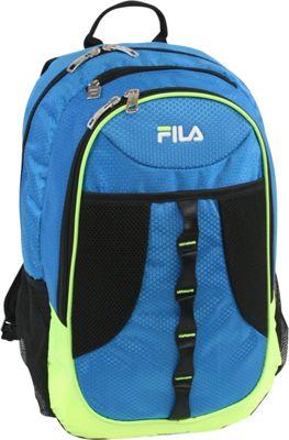 Fila Radius Tablet and Laptop Backpack Blue/Lime - Fila Business & Laptop Backpacks
