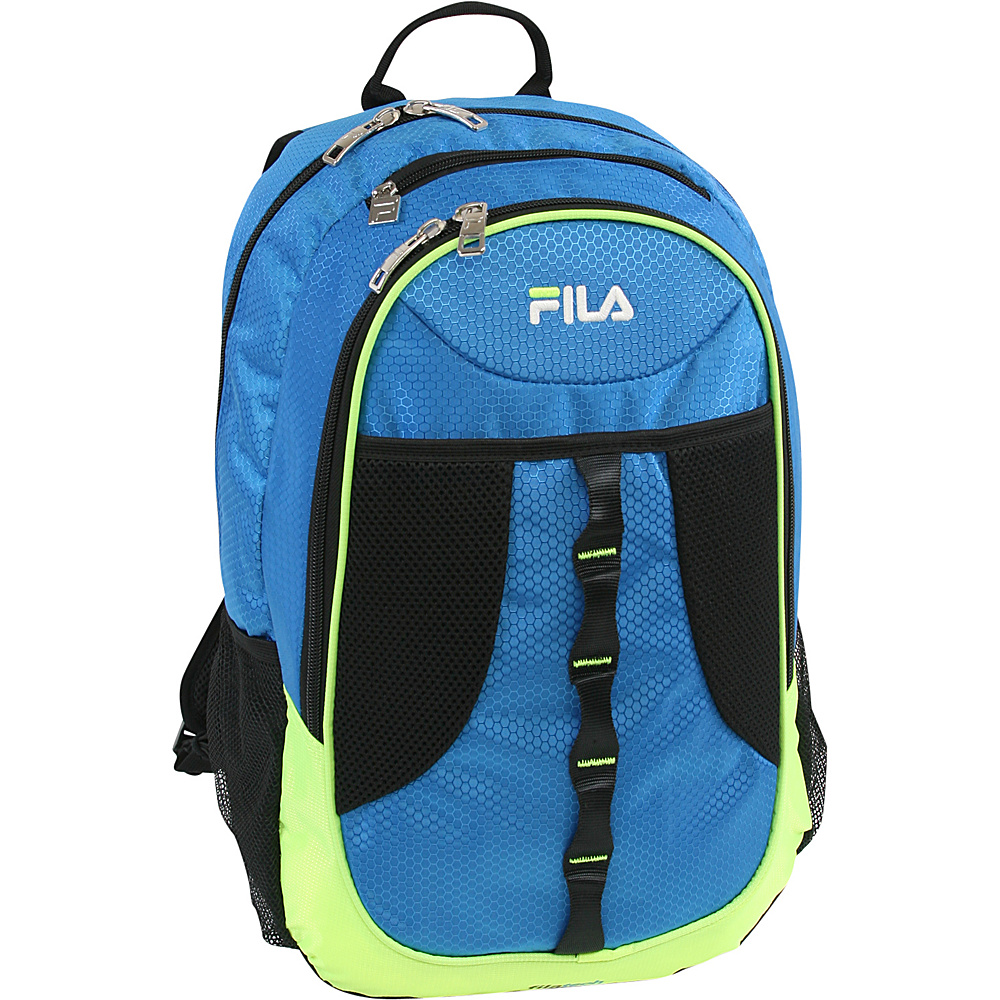 Fila Radius Tablet and Laptop Backpack Blue Lime Fila Business Laptop Backpacks