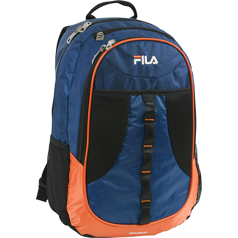 Fila Radius Tablet and Laptop Backpack Navy Orange Fila Business Laptop Backpacks