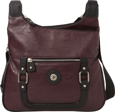 Mouflon Original RFID Generation Hobo Wine/Black - Mouflon Original Manmade Handbags