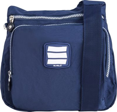 Suvelle Small City Travel/Everyday Shoulder Bag Navy - Suvelle Fabric Handbags