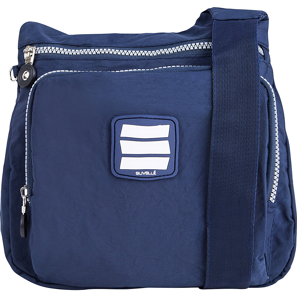 Suvelle Small City Travel Everyday Shoulder Bag Navy Suvelle Fabric Handbags