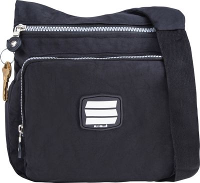 Suvelle Small City Travel/Everyday Shoulder Bag Black - Suvelle Fabric Handbags